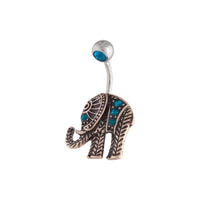 Silver Blue Topaz Elephant Belly Bar - link has visual effect only