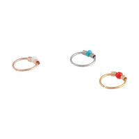 Mixed Metal Coloured Bead Upper Hoop Pack - link has visual effect only