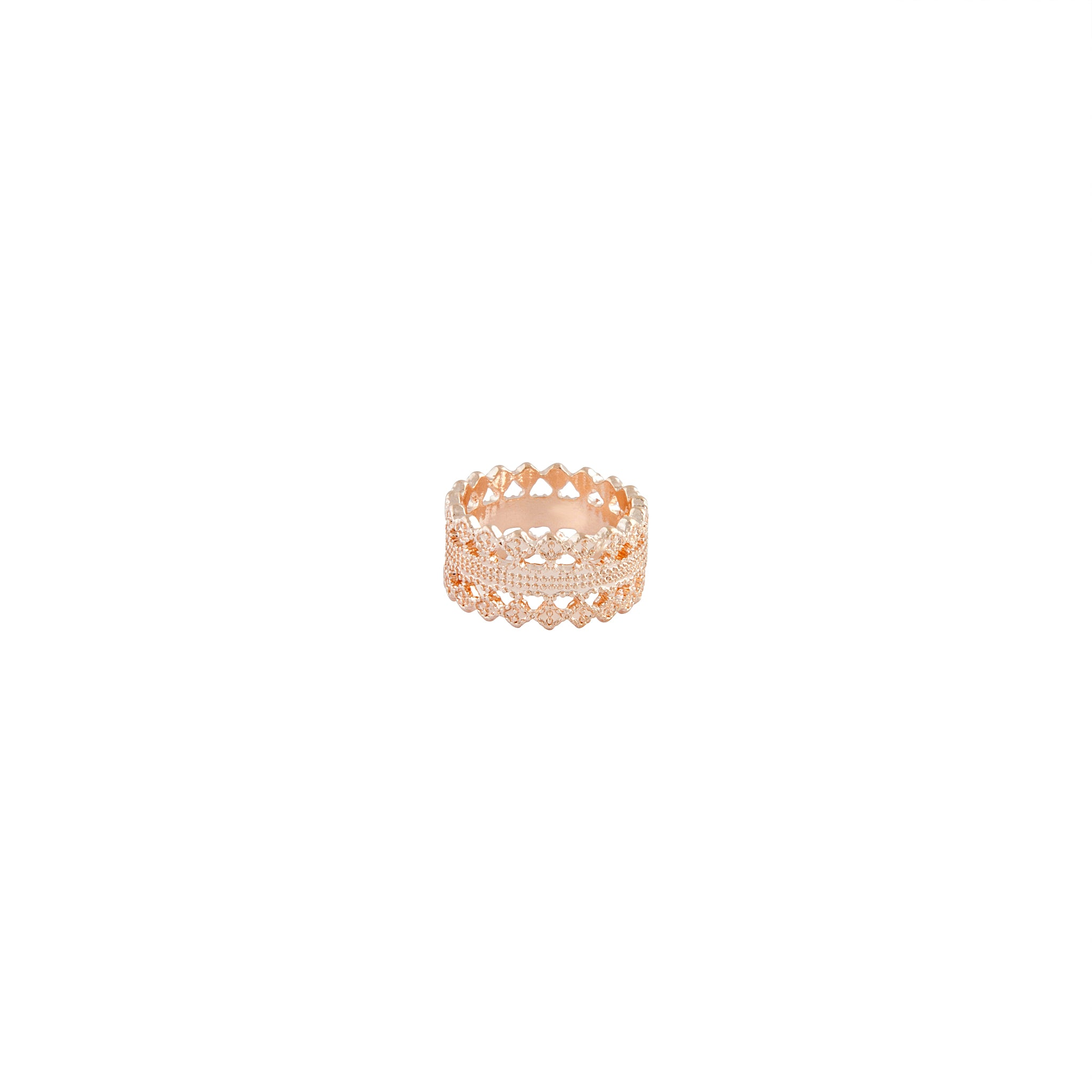 Rose Gold Lace Detail Ring