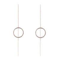 Sterling Silver Open Circle Thread-Through Earring