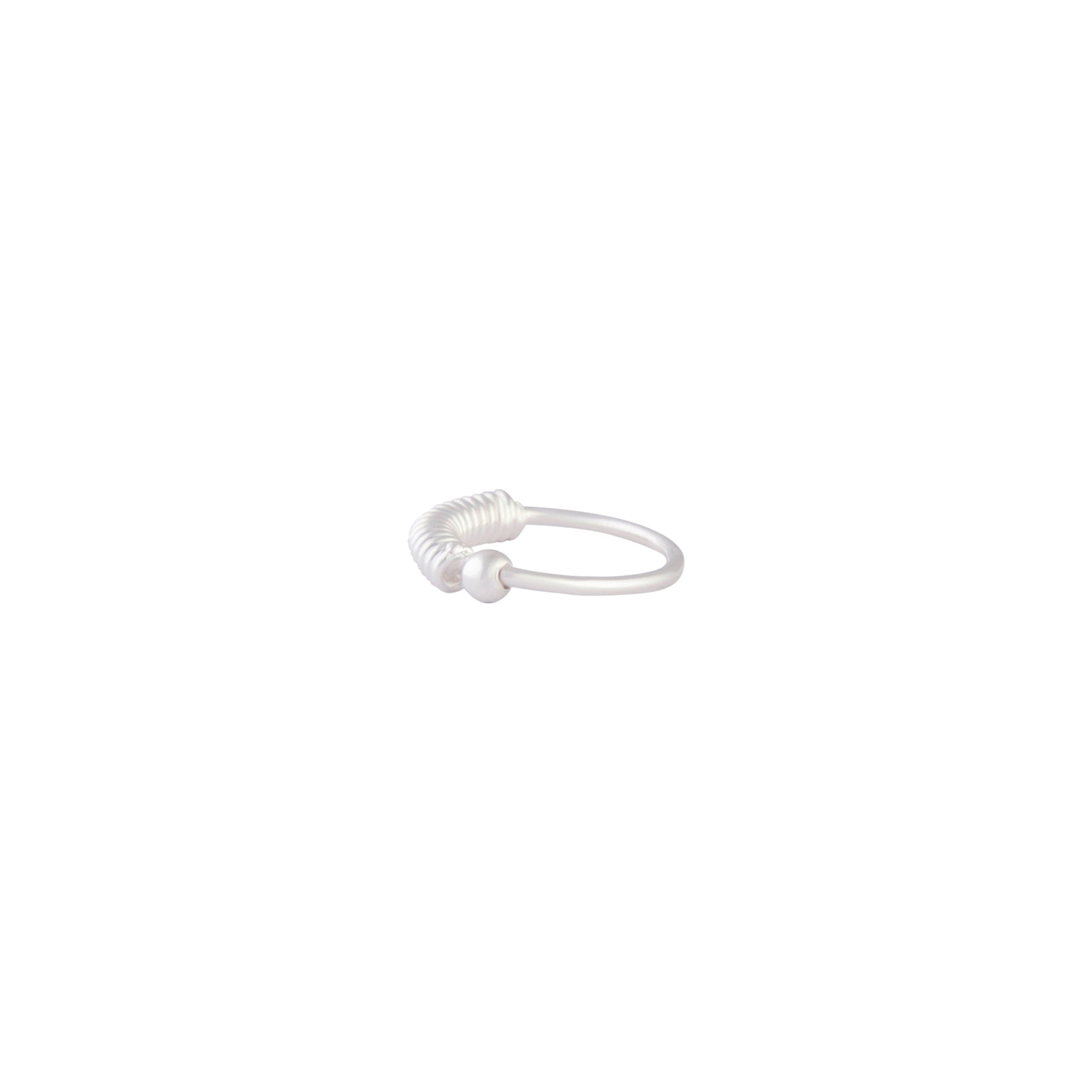 Sterling Silver Coil Detailed Nose Ring