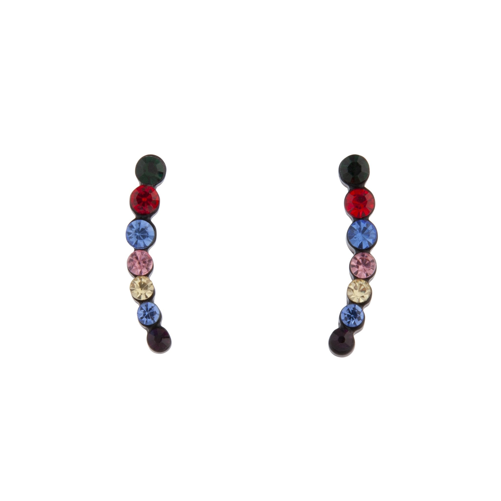 Black Multi-Coloured Ear Cuff