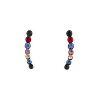Black Multi-Coloured Ear Cuff - link has visual effect only