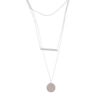 Silver Delicate Triple Layered Disc Bar Station Choker - link has visual effect only