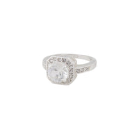 Silver Tone Cushion Setting Diamante Ring | Rings | Lovisa Bridal Jewellery Australia | Wedding Accessories