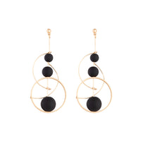 Black Rose Gold Ball Loop Stick Earring - link has visual effect only