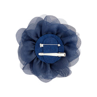 Navy Blue Mesh Flower Clip - link has visual effect only