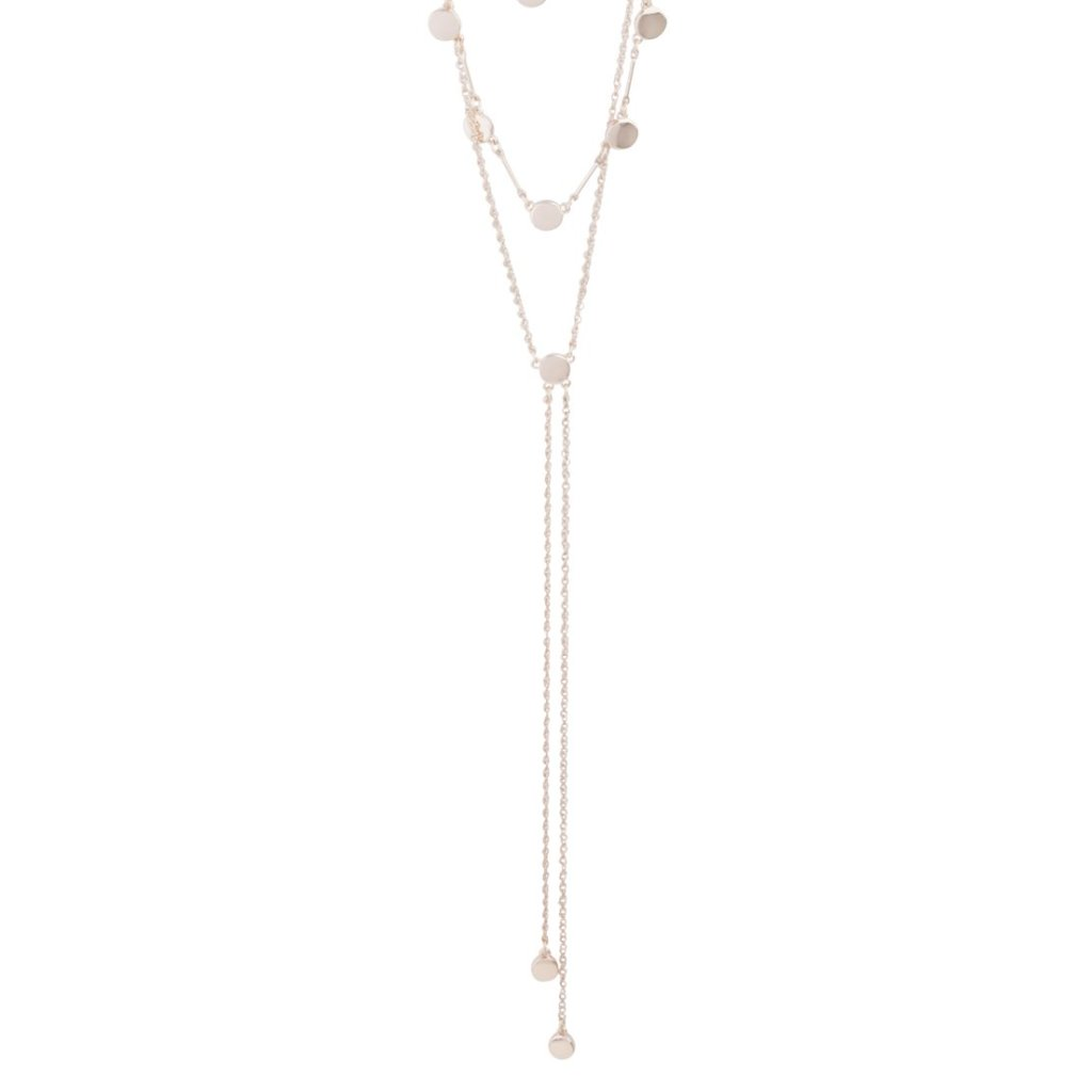 Rose Gold Layered Neck Necklace