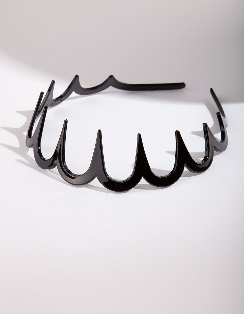 Black Acrylic Wave Headband