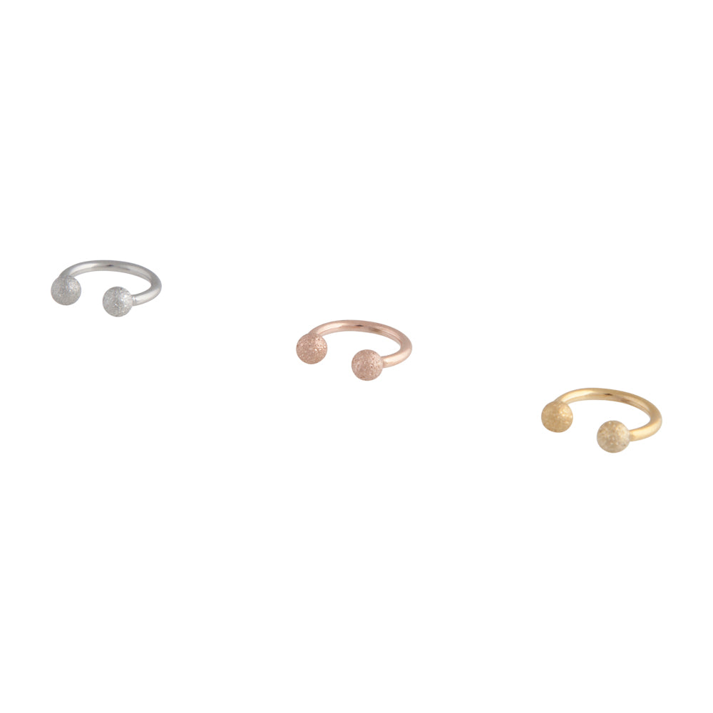Metals Sandblast Open Ring Earring Pack