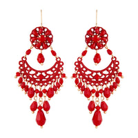 Red Beaded Chandelier Drop Earring | Earrings | Lovisa Jewellery Australia | Gift Idea Girl
