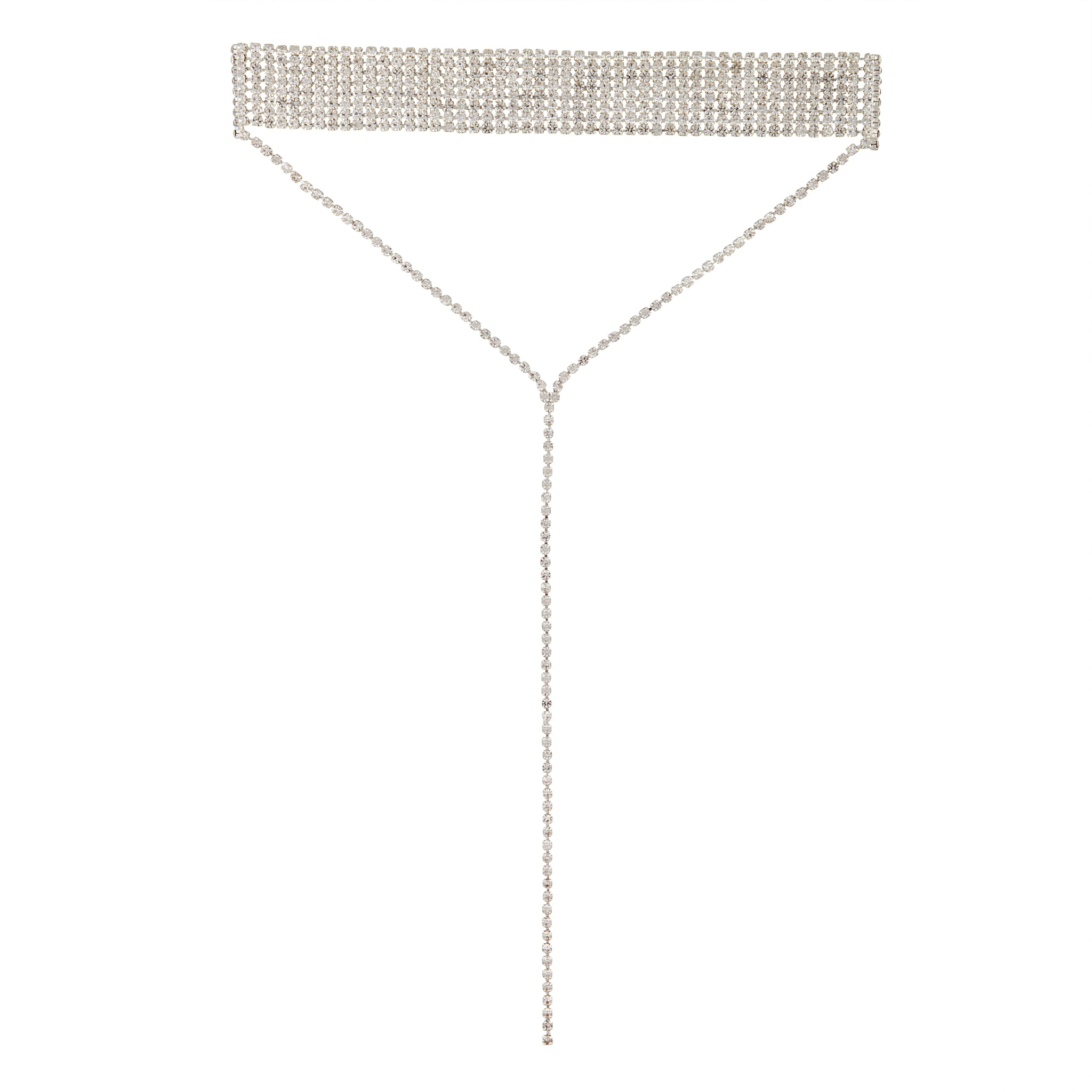 Silver Diamante Statement Neck Choker