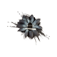 Texture Mixed Feather Corsage in Black - link has visual effect only