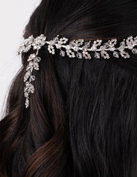 Crystal Flower Vine Drape Hair Piece - link has visual effect only