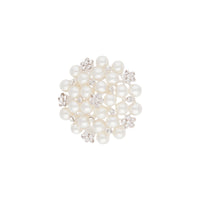 Silver Sparkle Pearl Cluster Brooch - link has visual effect only