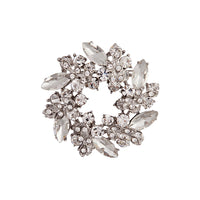 Crystal Jewelled Wreath Brooch - link has visual effect only