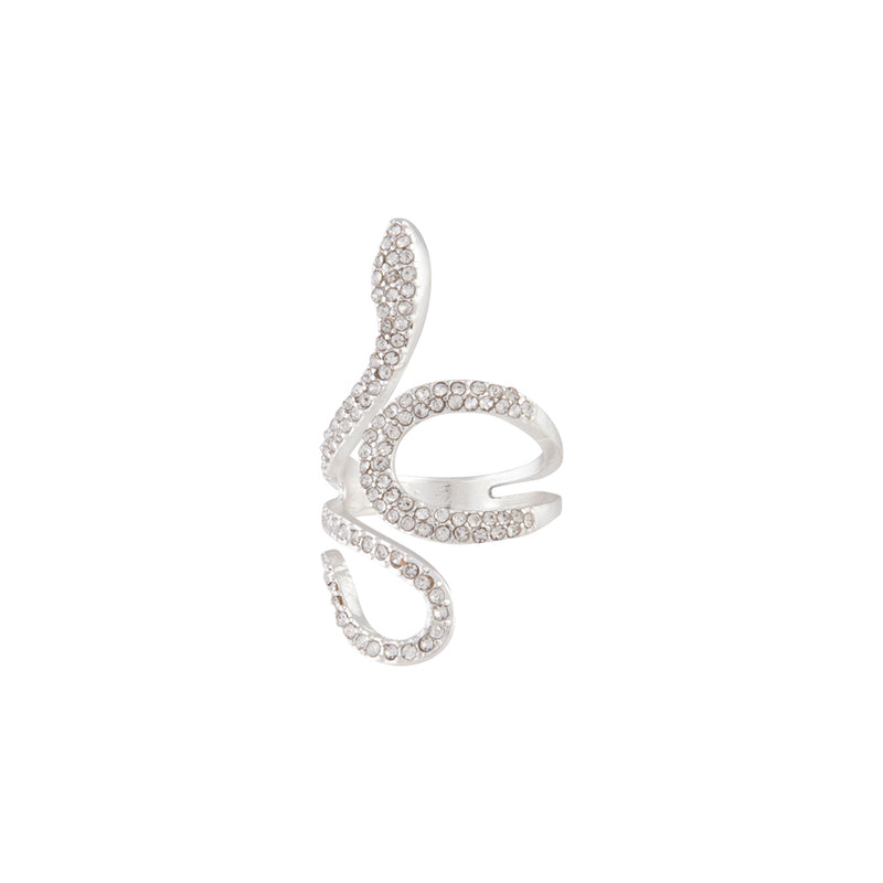 DIAMANTE SWIRL SNAKE RING