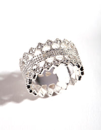 Silver Lace Detail Ring - link has visual effect only