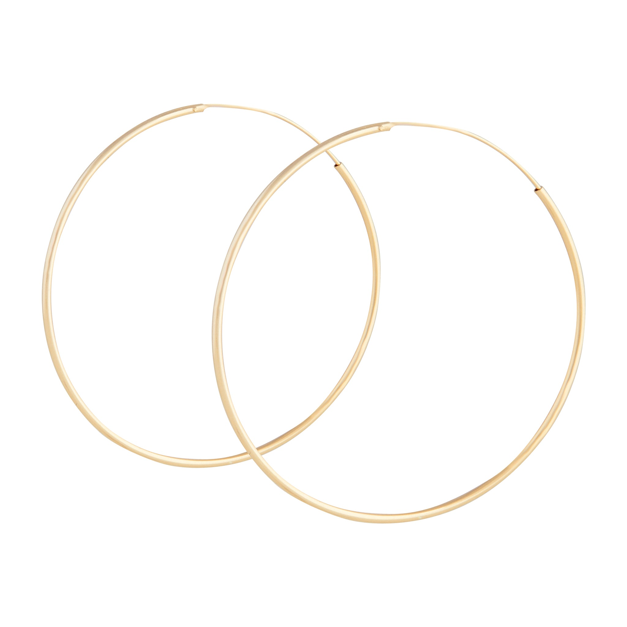 Gold Plated 925 SS 50mm Hoop