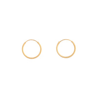 Gold Plated Sterling Silver 16mm Matte Hoop Earring - link has visual effect only