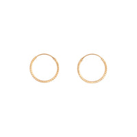 Gold Plated Diamond Cut 16mm Hoop Earring
