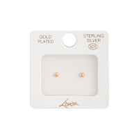 Gold Plated 3mm Ball Stud Earring