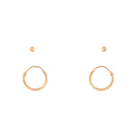 Gold Plated Sterling Silver Stud & Hoop Pack - link has visual effect only
