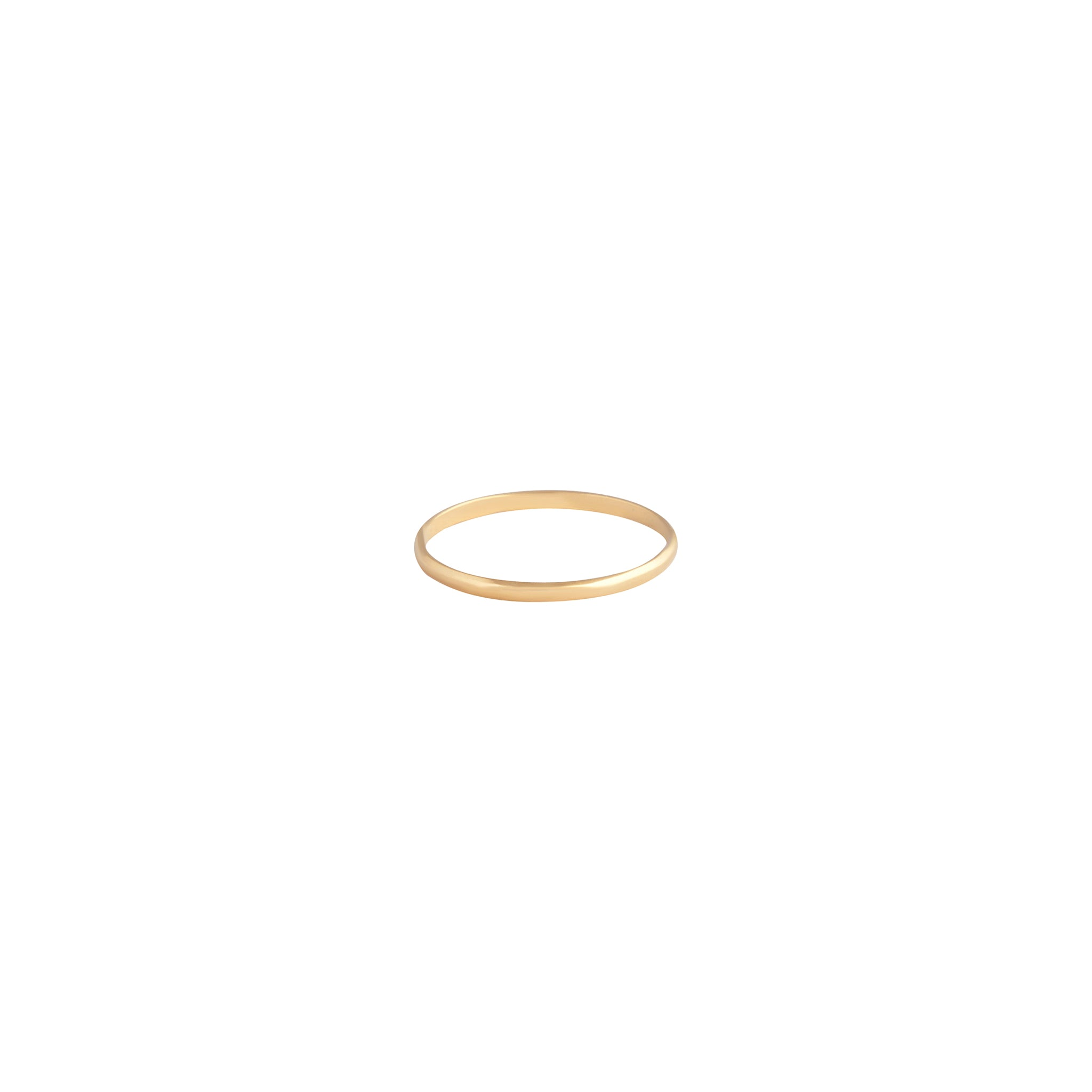Gold Plated 925 SS Thin Band Ring