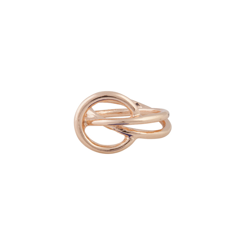 GOLD PRETZEL TWIRL RING