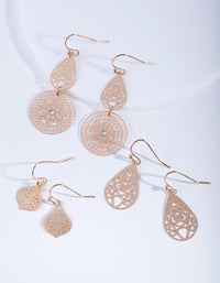 Gold Ornate Stamp Earring Pack - link has visual effect only