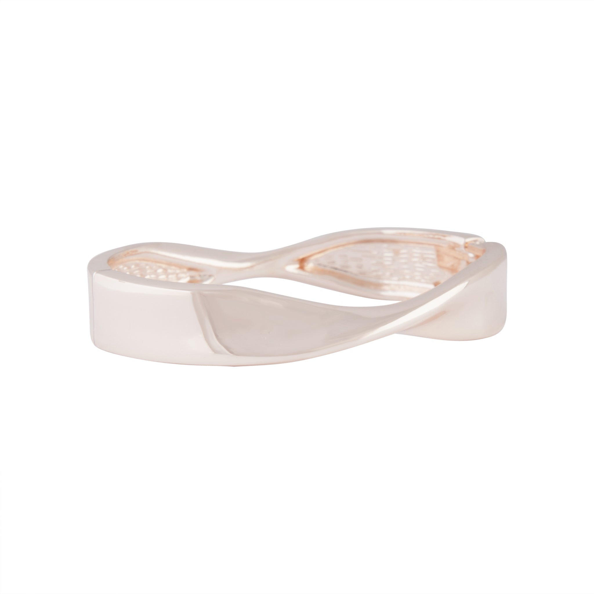 Rose Gold Twist Clamp Bangle