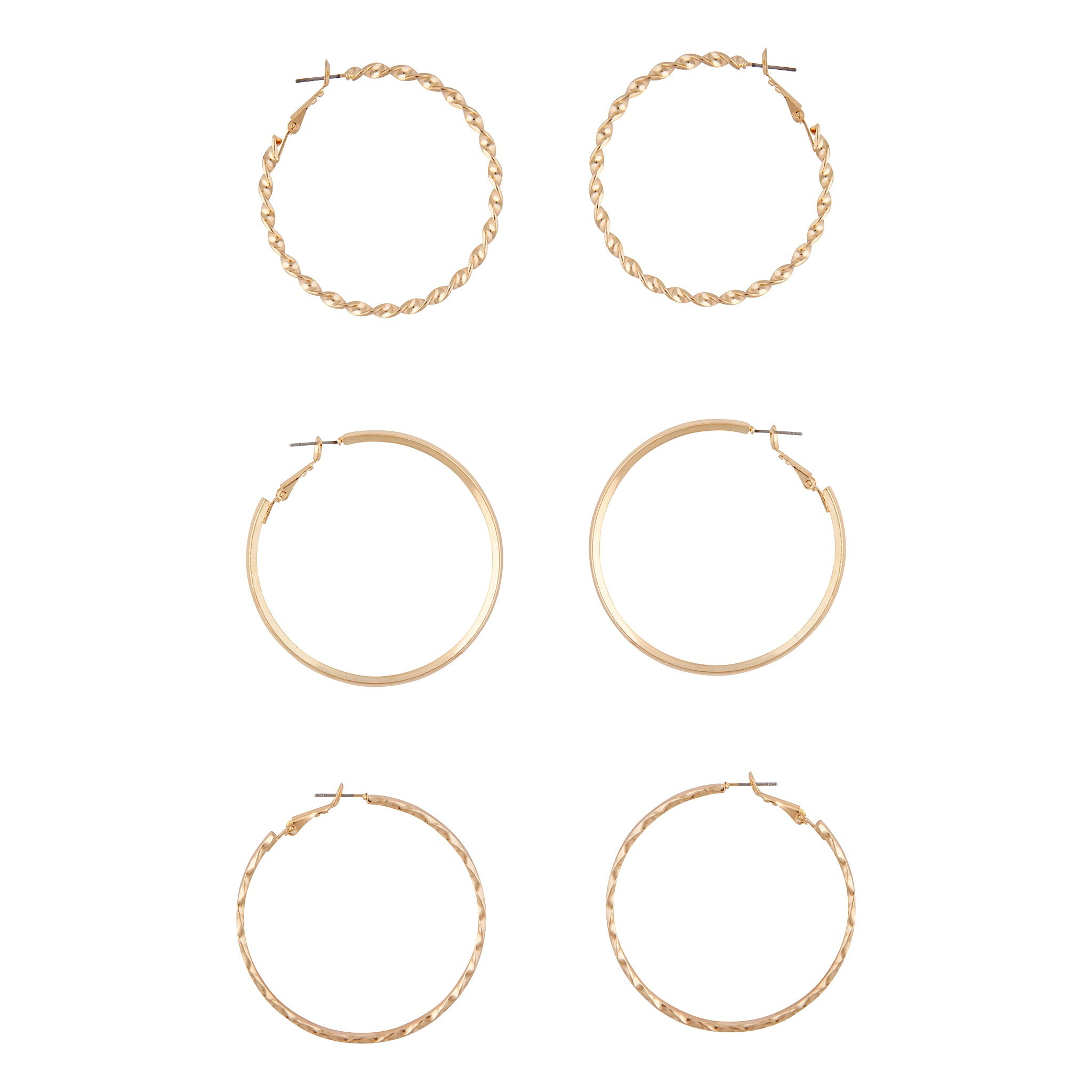 Gold Ultimate Hoop Earring 3 Pack