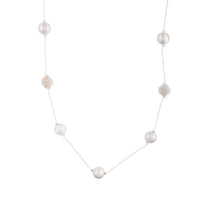 Mixed Silver Ball Station Lariat Necklace - link has visual effect only