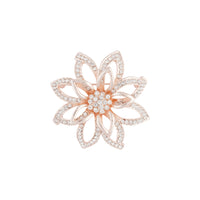 Rose Gold Flower Diamante 3D brooch - link has visual effect only