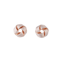 Rose Gold Small Twisted Knot Stud - link has visual effect only