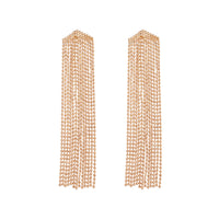 Fine Gold Tassel Earrings - link has visual effect only