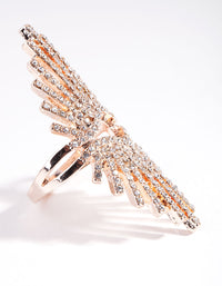 Rose Gold Diamante Burst Ring - link has visual effect only