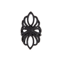 Black Filigree Loop Diamante Ring | Rings | Lovisa Jewellery Australia | Gift Idea Girl