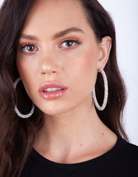 Diamante Hoop Earring - link has visual effect only