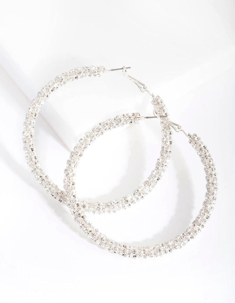 Diamante Hoop Earring