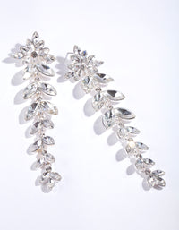 Sliver Graduated Navette Drop Earring - link has visual effect only