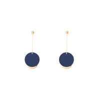 Dual Contrast Disc Earring Matte Cobalt Gold - link has visual effect only