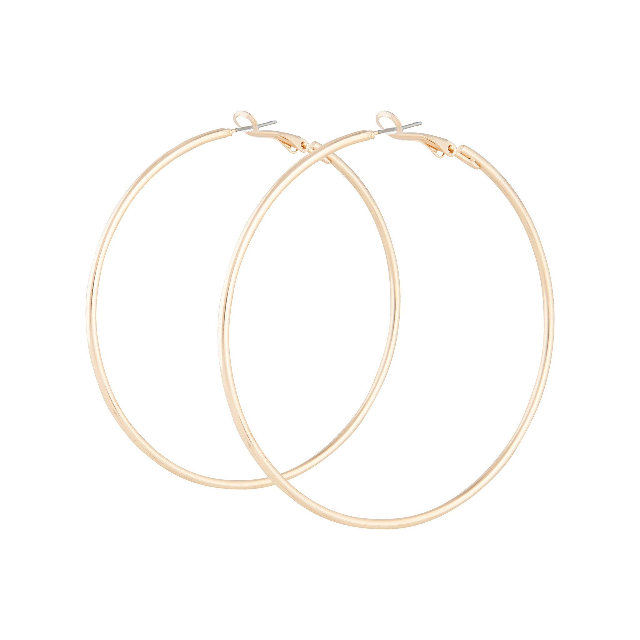 Gold Classic Thin Hoop Earring