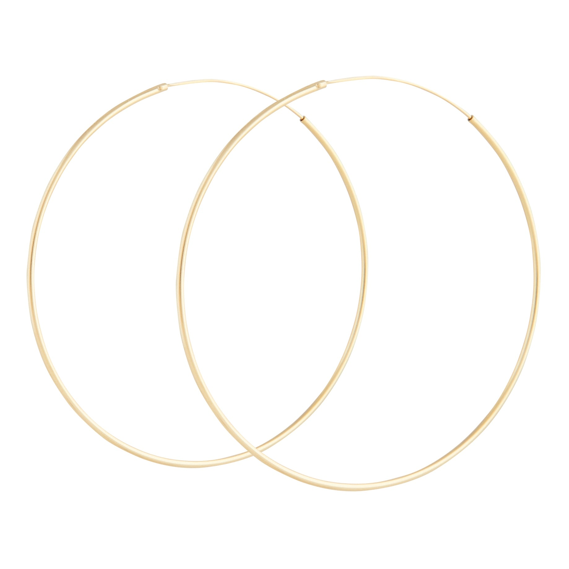 Gold Plated 925 SS 60mm Hoop