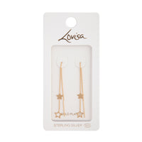 Gold Plated Star Thread-Through Earring | Earrings | Lovisa Jewellery Australia | Gift Idea Girl