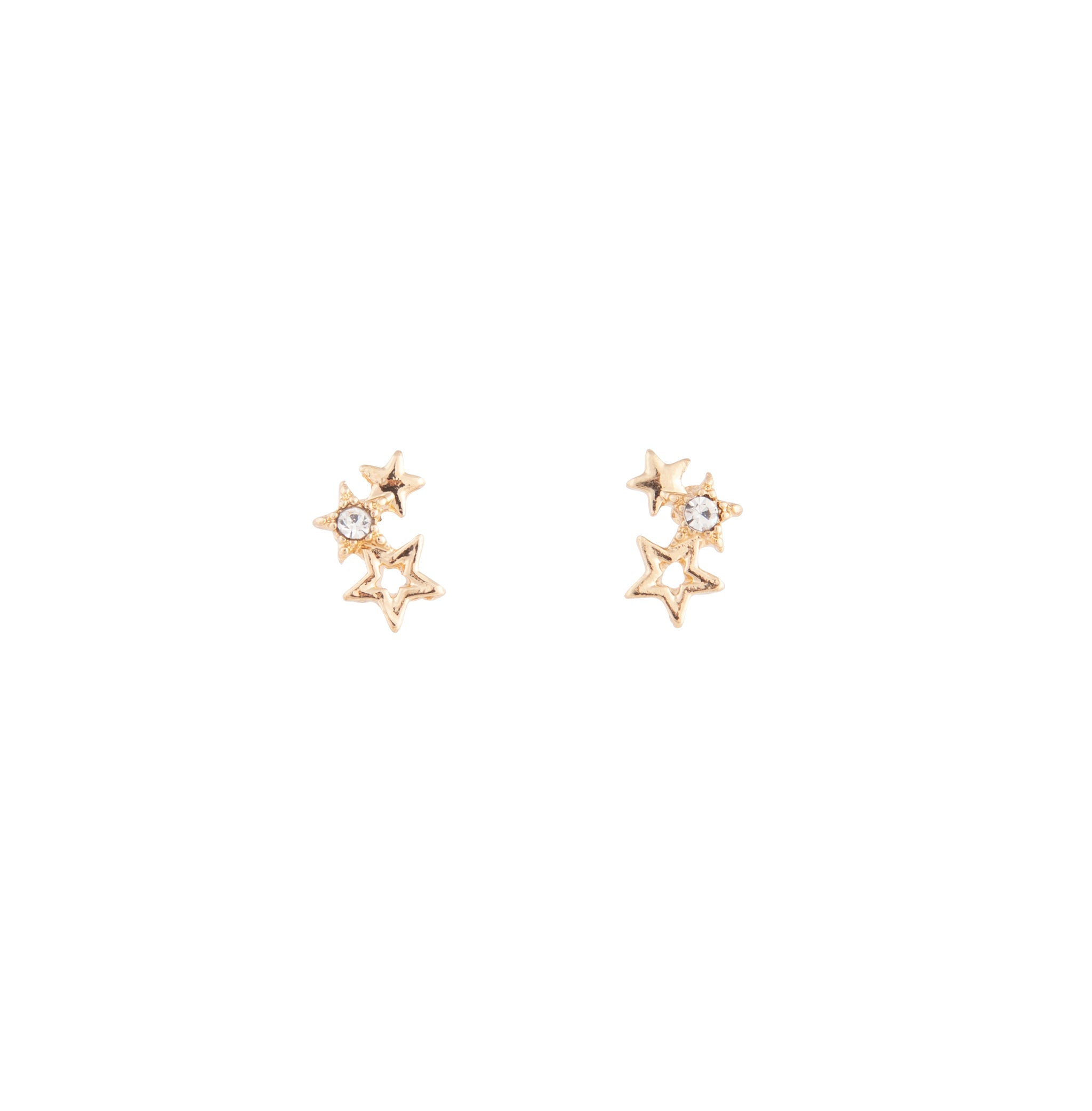 Gold Mini Star Cluster Stud Earring