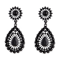Black Vintage Stone Set Teardrop Earring | Earrings | Lovisa Jewellery Australia | Gift Idea Girl