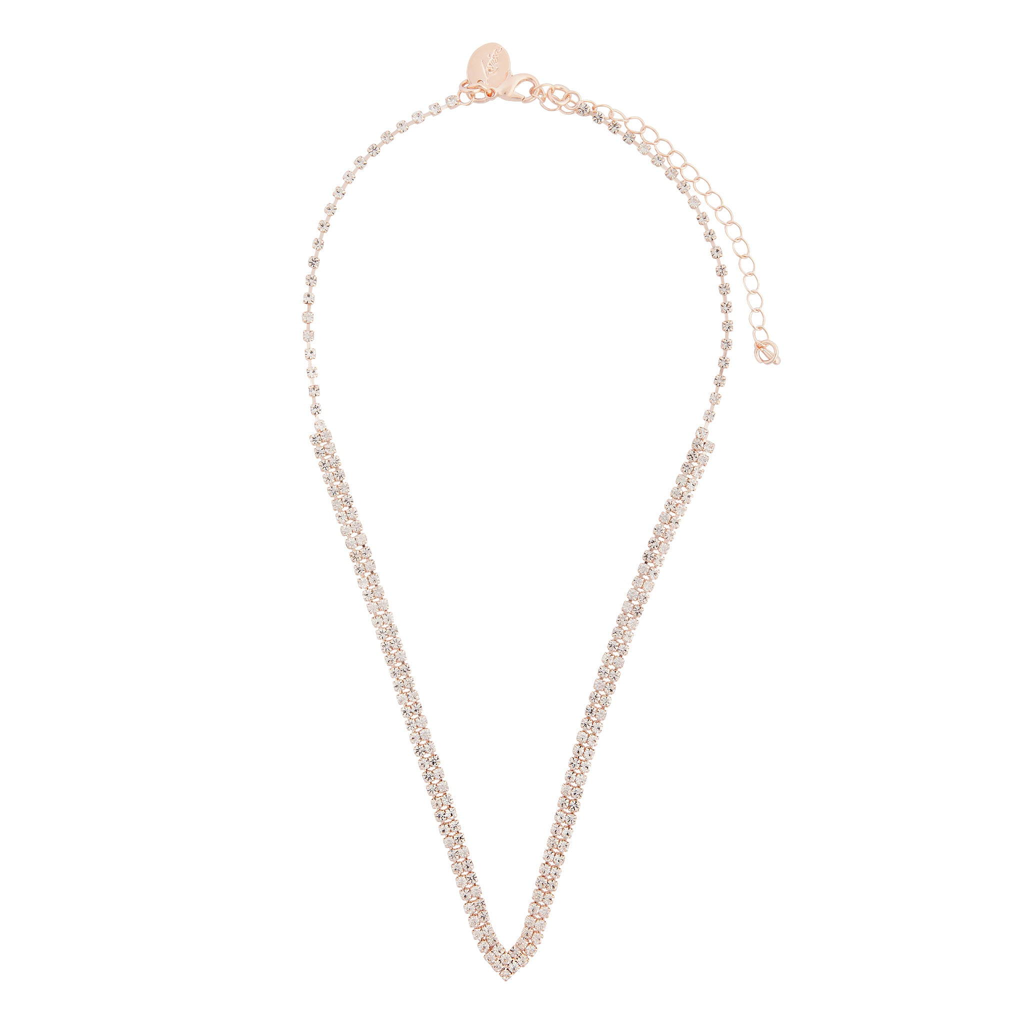 Rose Gold Cup Chain V Shape Necklace