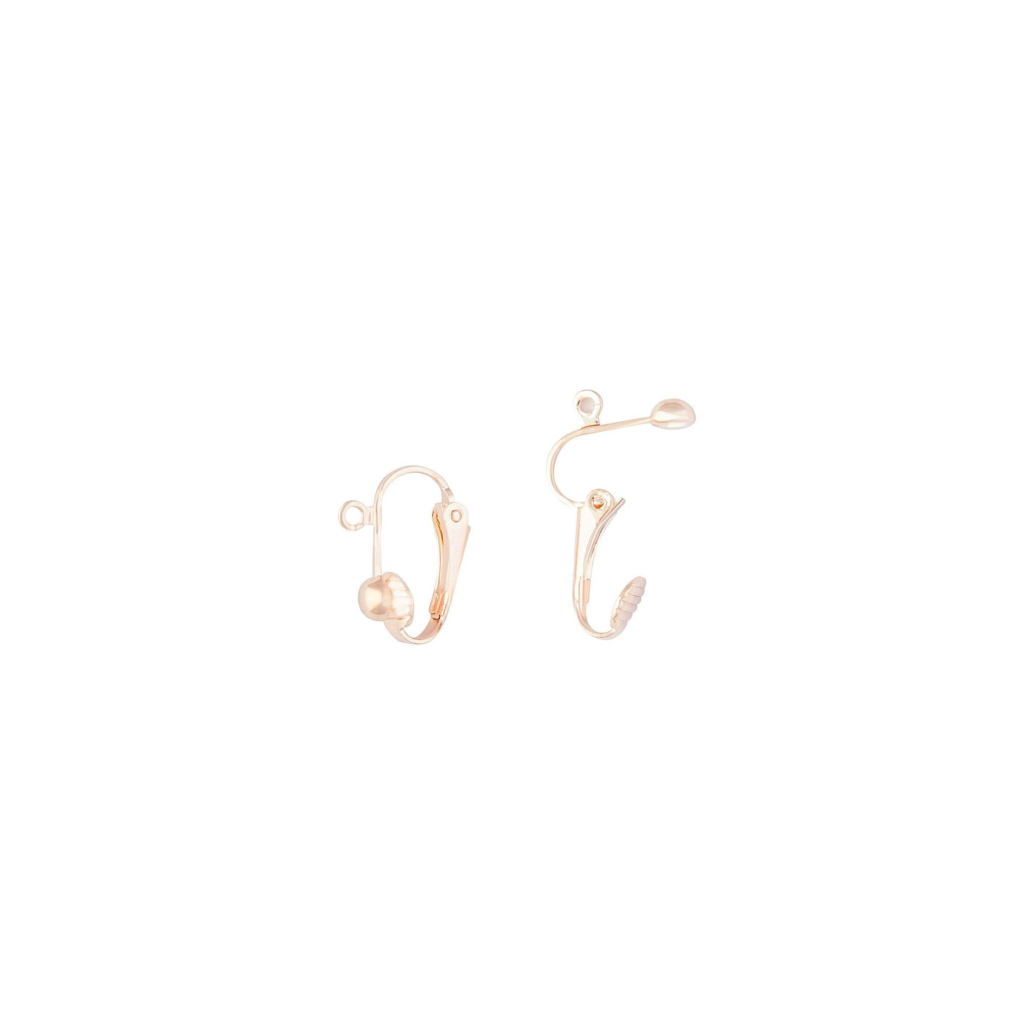 Rose Gold Clip On Converters For Drop Earrings