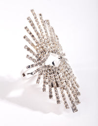 Silver Statement Burst Ring - link has visual effect only